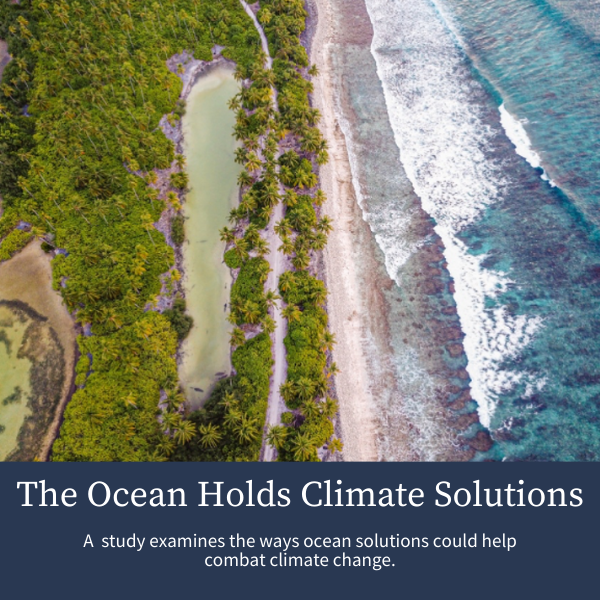 The Ocean Holds Climate Solutions; A  study examines the ways ocean solutions could help combat climate change.