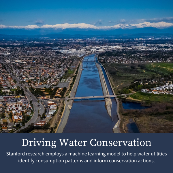 Driving Water Conservation; Stanford research employs a machine learning model to help water utilities identify consumption patterns and inform conservation actions.