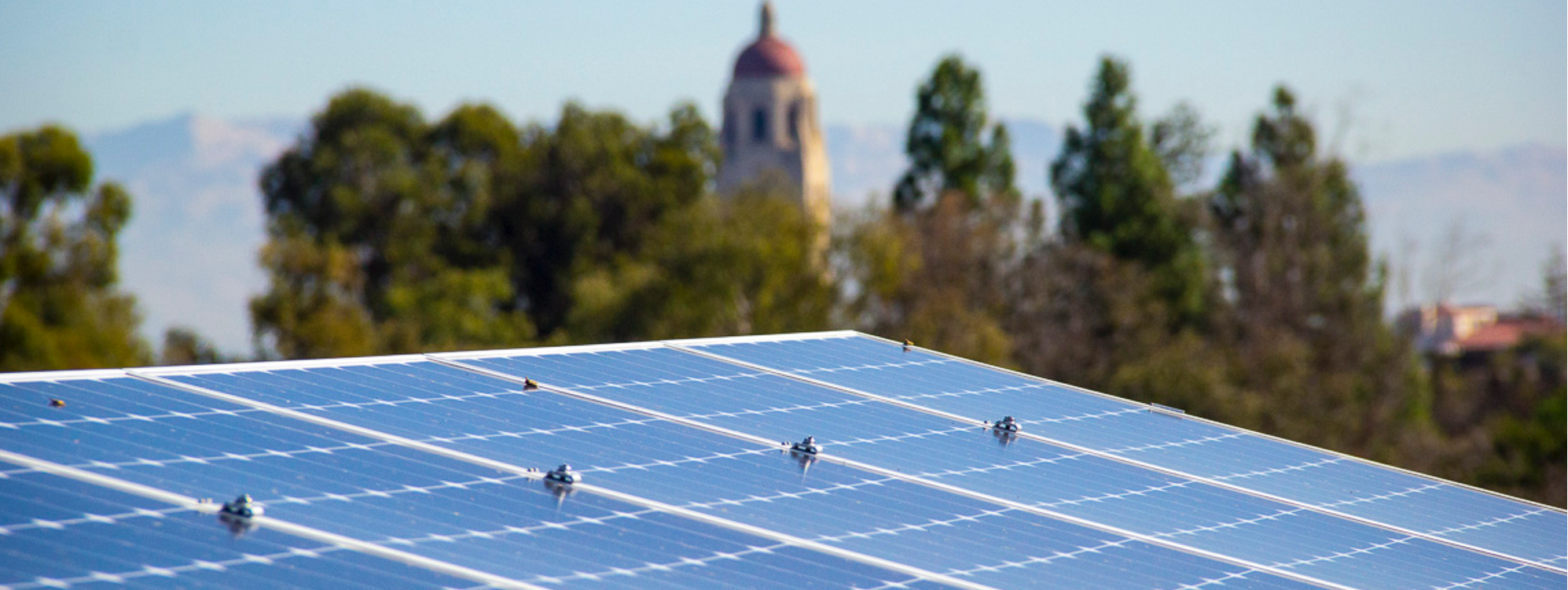 solar panels on Stanford campus