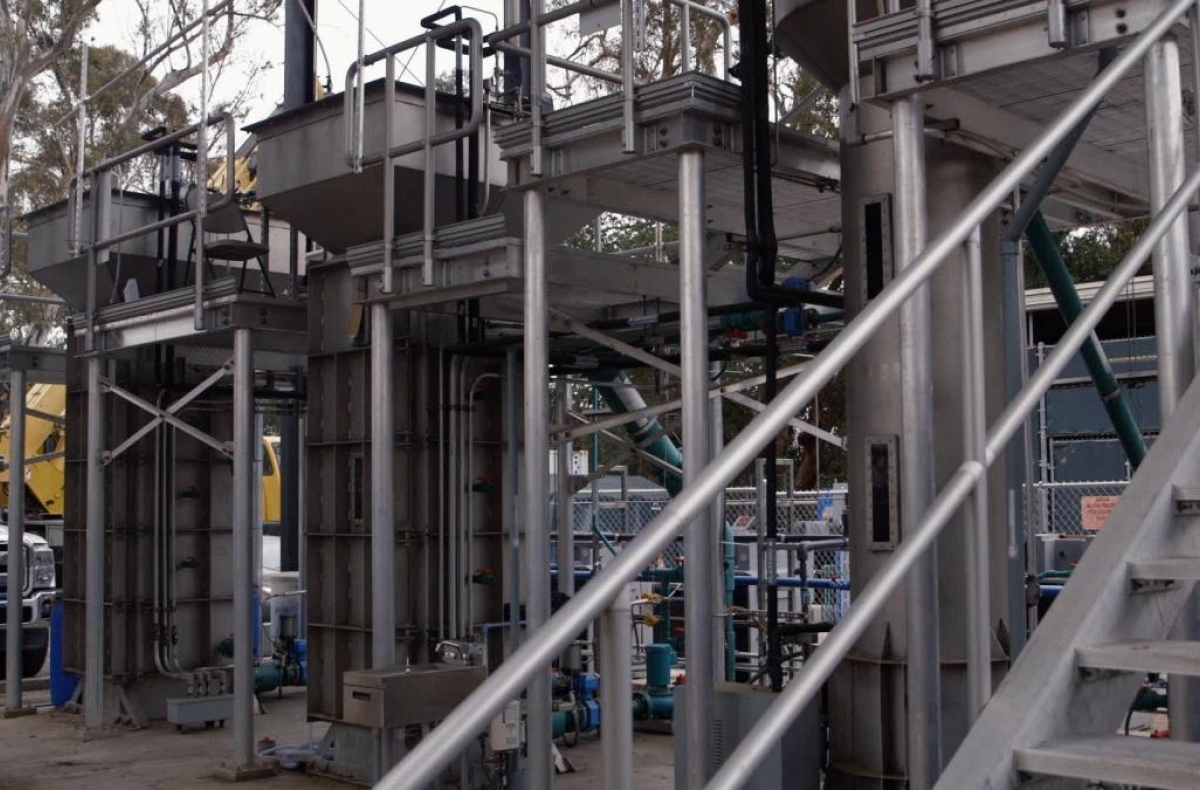 wastewater treatment plant under construction
