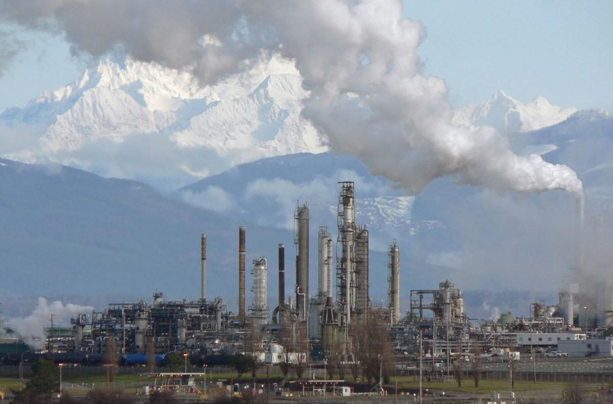 An oil refinery in Washington state.
