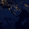 satellite image of Earth at night