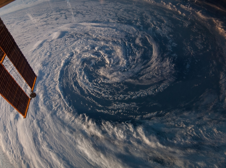 view of storm from space