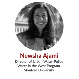 Newsha Ajami; Director of Urban Water Policy, Water in the West Program, Stanford University