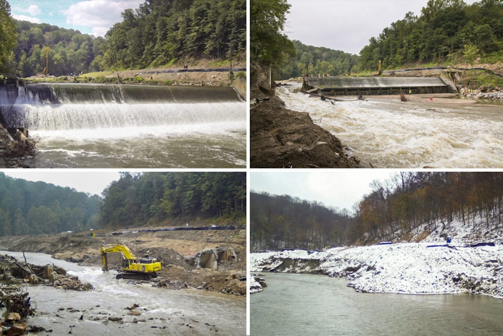 Removal of a dam in Maryland