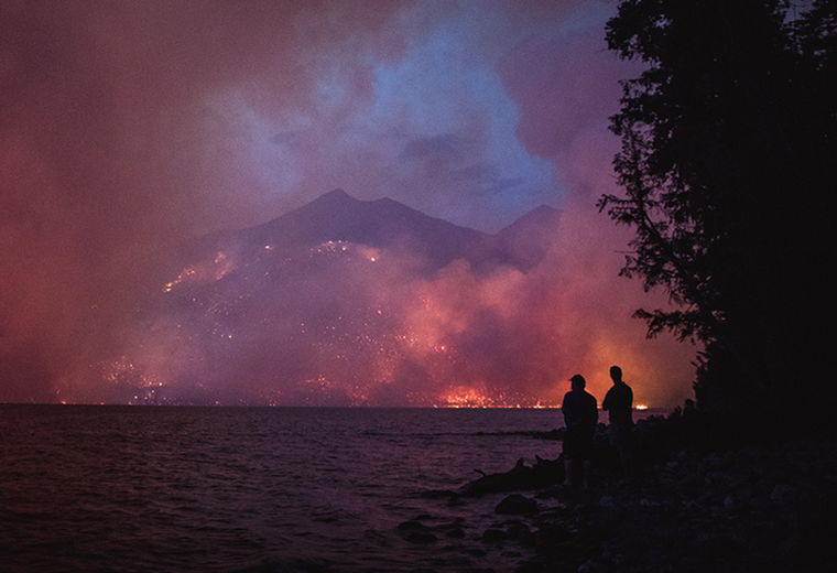 Wildfire in Glacier National Park