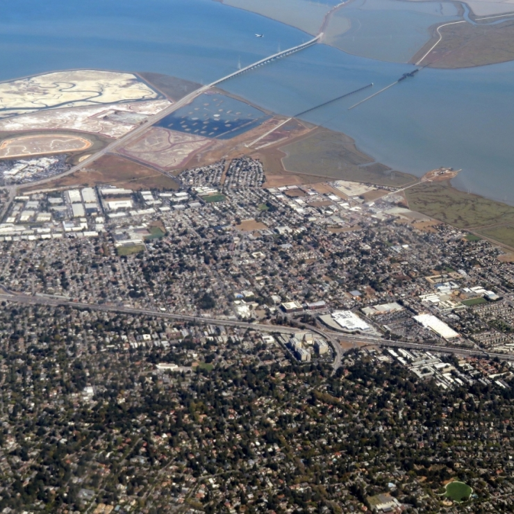 aerial view of East Palo Alto