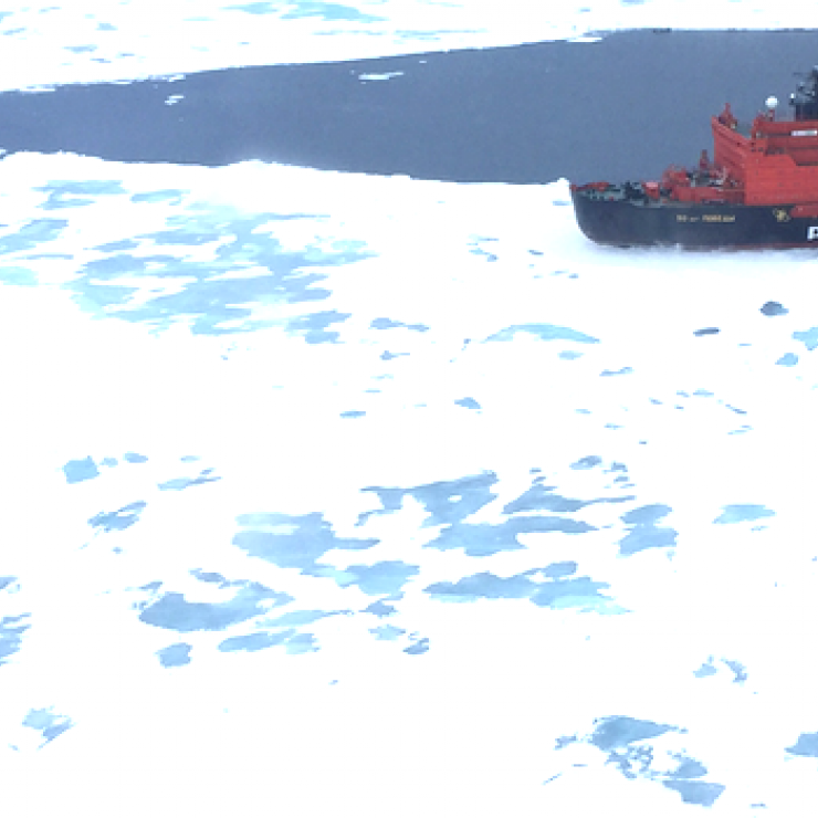 icebreaker ship in Arctic