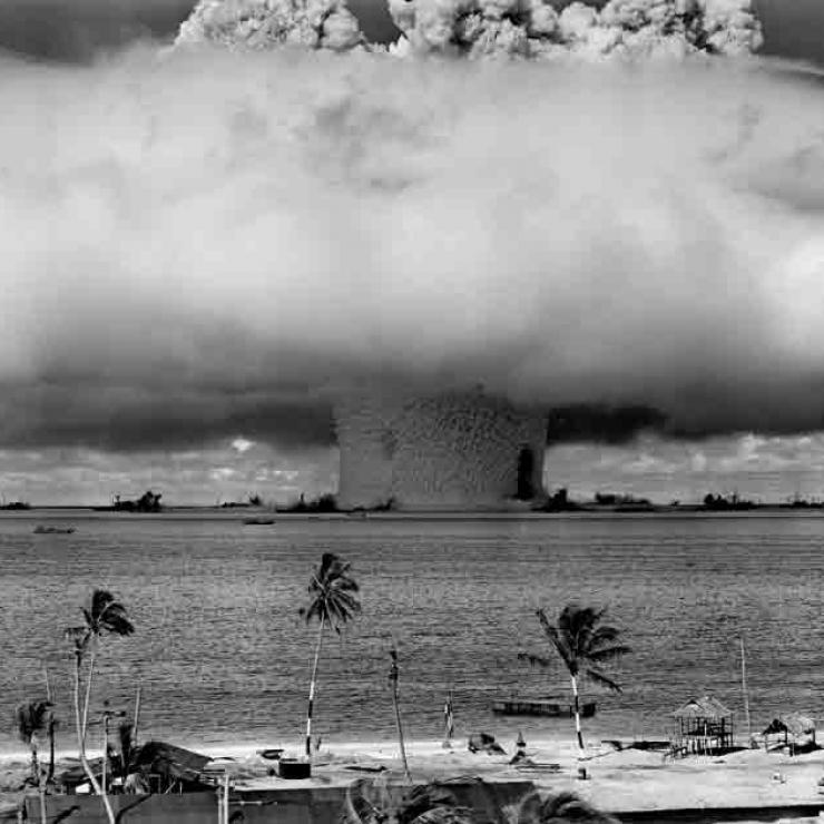 Atomic bomb tests at Bikini Atoll