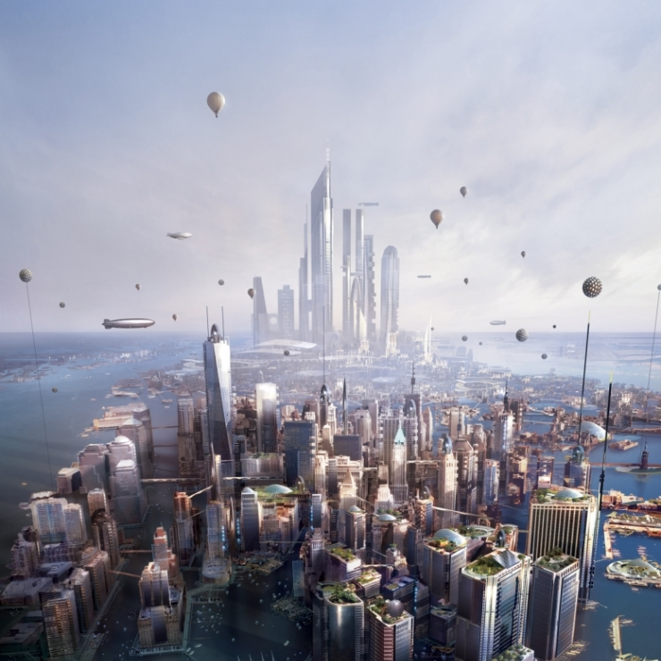 book cover illustration for New York 2140 by Kim Stanley Robinson